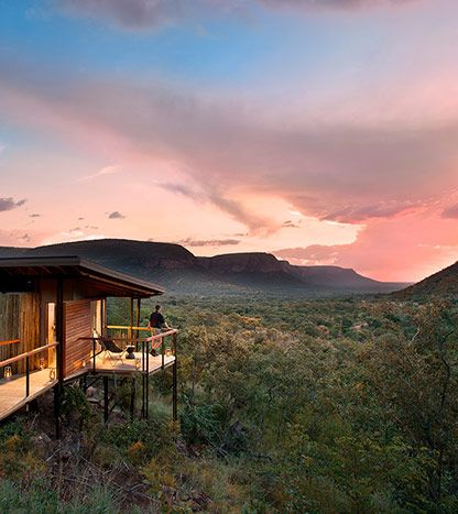 The area surrounding the lodge has sweet savannah grasslands in the valley below, and broadleaved sour veld habitat on the hills above, while some of the gorges are filled with riverine forest habitats.  All units have spectacular views down into Waterfall Valley, which is particularly magical at sunset! #MOREplaces #MaratabaSouthAfrica #LuxuryLodge #WalkingTrails