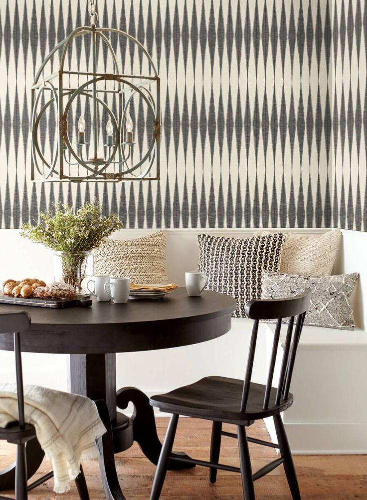 Magnolia Home Handloom Peel & Stick Wallpaper Black