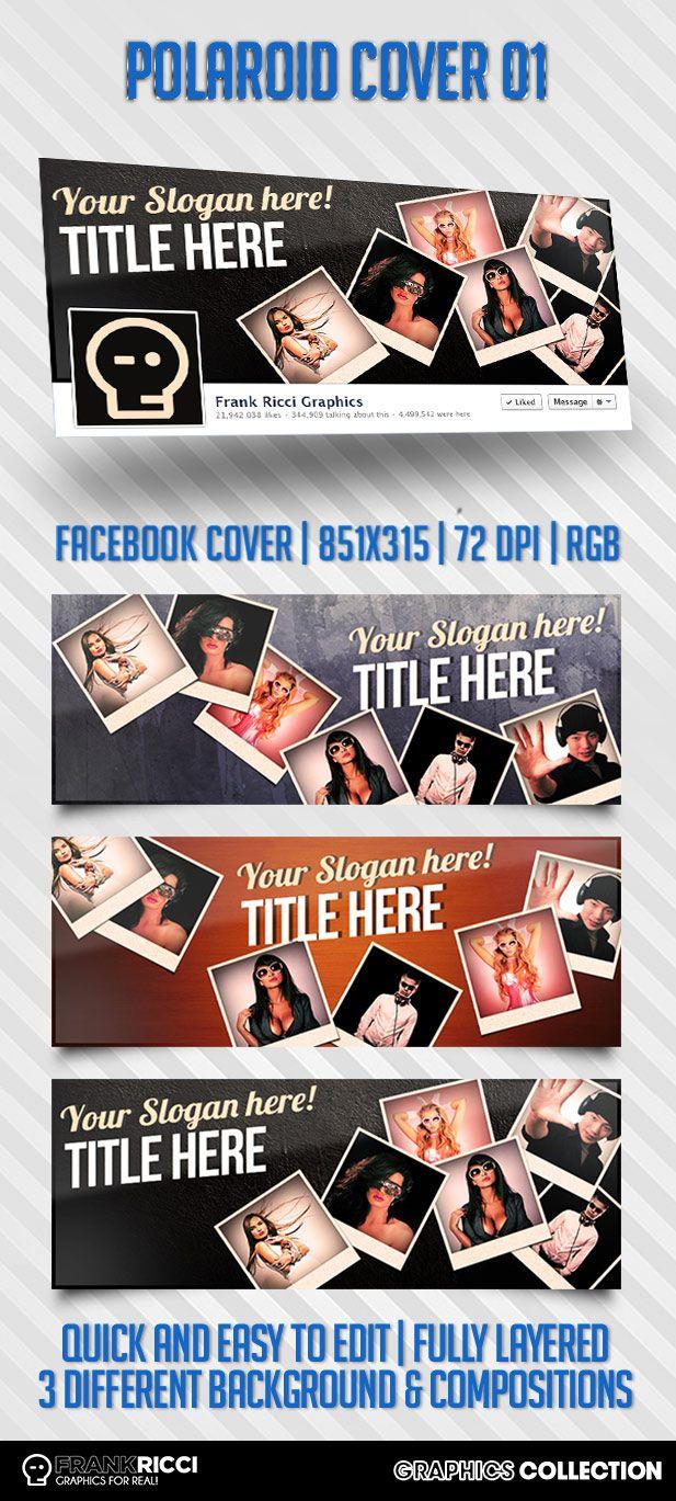 Cover Facebook Polaroid Template 01 - Available on http://frankricci.it/polaroid-cover-01/