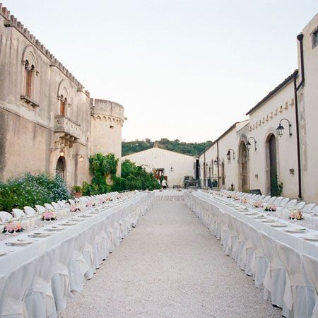 outdoor wedding reception seating