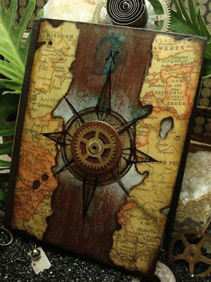 Time Travel - handmade books bookmaking journals by Altered Alchemy