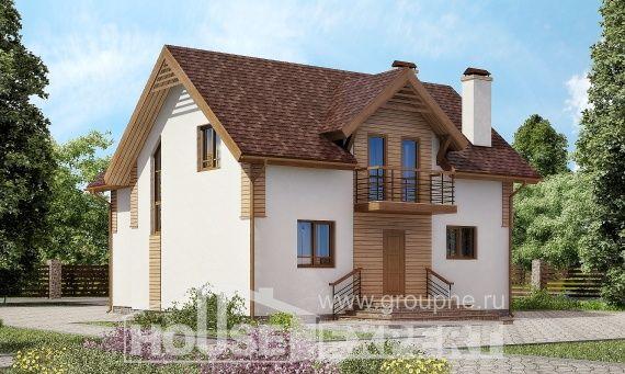 150-009-П  Проект двухэтажного дома, экономичный дом из поризованных блоков
