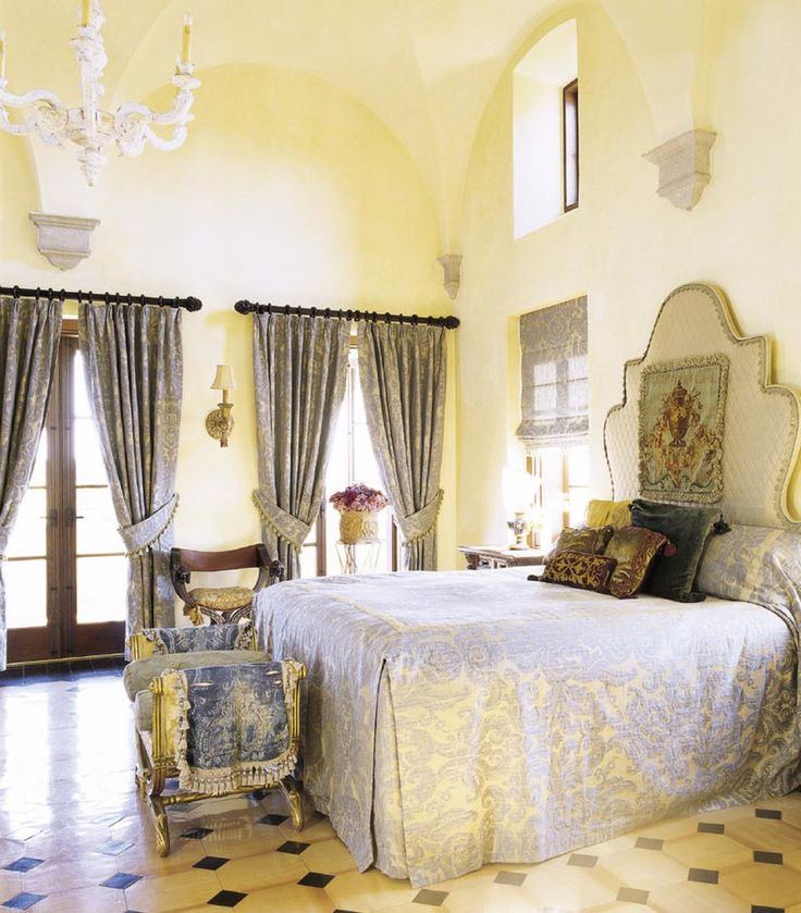 Mediterranean Bedroom Design Pictures Remodel Decor and