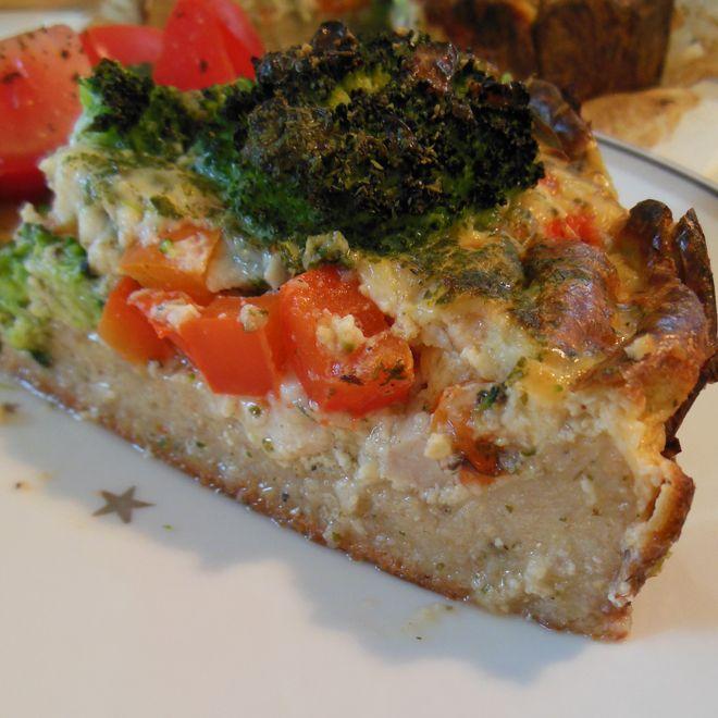 Opskrift på skøn kyllingetærte, med kun 118 kalorier pr. 100g.