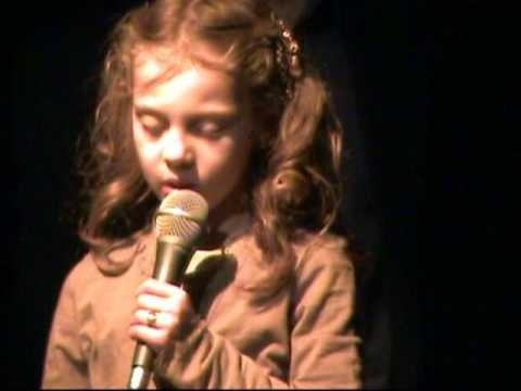 Oldest Daughter singing Amazing Grace when she was 7 years old