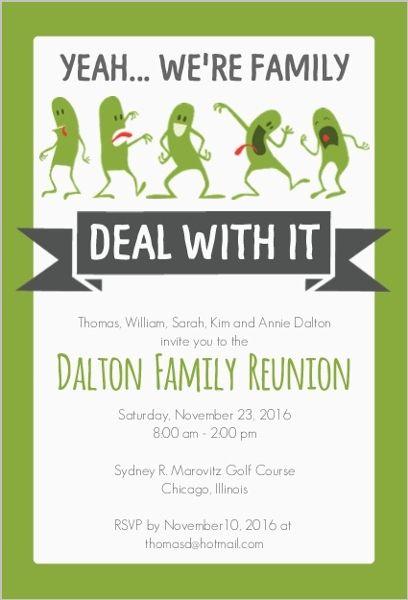 Funny Family Reunion Invitation