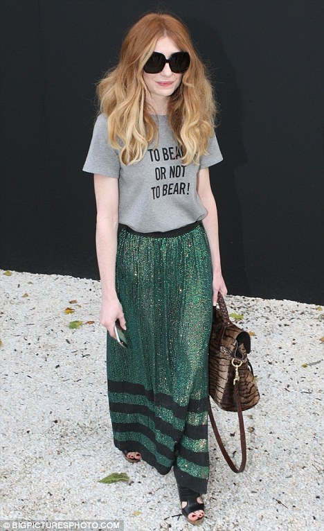 Nicola Roberts wears skirt by Laura Joyner