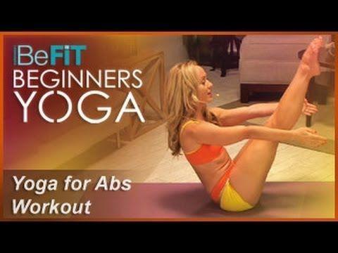 ▶ Yoga for Abs Workout: BeFiT Beginners Yoga- Kino MacGregor - YouTube