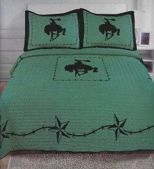 Cowboy Quilt 3pc. Set