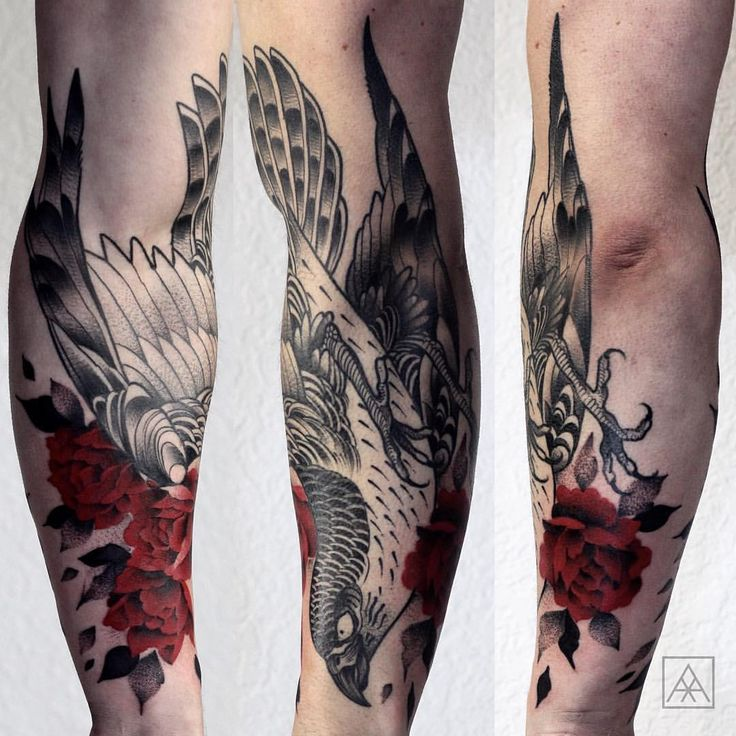"maxvorax: "" Falcon and red flowers! Agendamentos: maxvorax@gmail.com #tattoo #falcon #tattrx #contemporarytattooing #skinartmag #equilattera #inkstinctsubmission #tattoo2me #maxvorax #maxwellalves (em Estúdio Teix) "" Maxwell Alves"