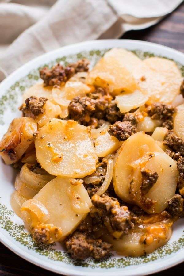 This Slow Cooker Beef And Potato Au Gratin Is An Easy From Scratch Hearty Meal
