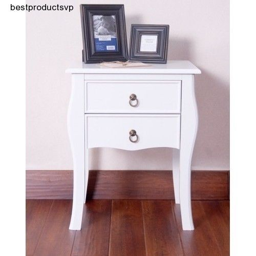 This gorgeousWood Nightstand With Drawers is a perfect addition to your bedroom. It may be used as a nightstandor as a side / end table. There's a lot of room inside the drawers for storing odds and ends out of sight. | eBay!
