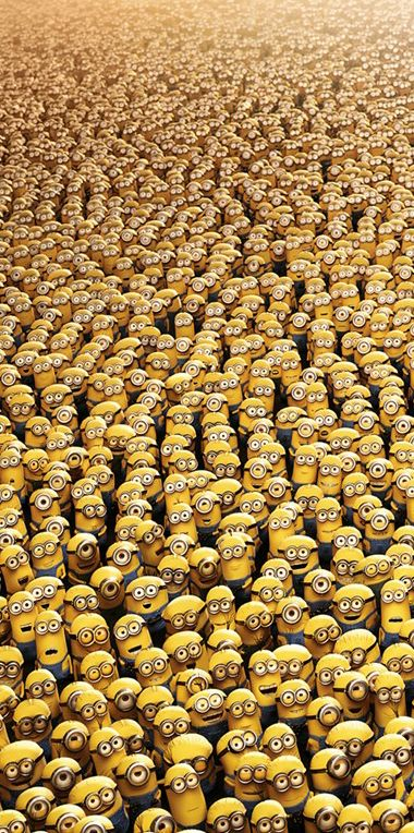 One a minion, two a minion, three a minion, Four! All the minions, every one, I adore!