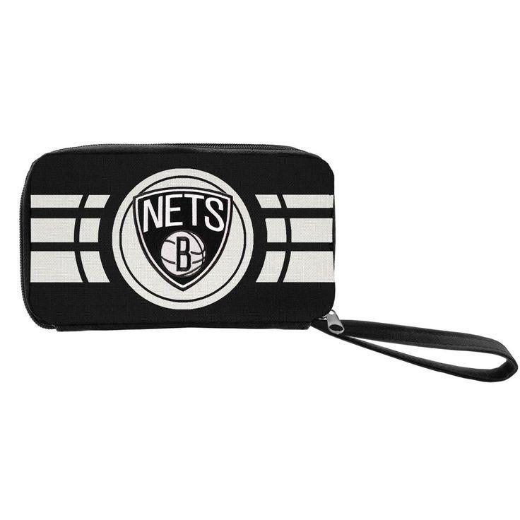 Nba Brooklyn Nets Ripple Zip Wallet Adult Unisex