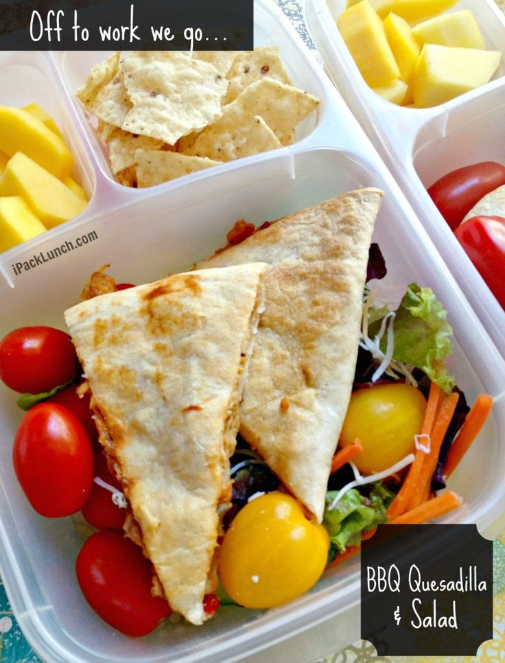 Best 90 hubbys lunch ideas images on pinterest healthy lunches simple bbq quesadilla salad for office lunch recipe included in containers forumfinder Gallery