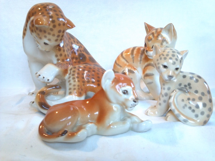 Collection of animals glass: The item is hand painted and has a stamp of the factory on the bottom of the piece. The piece is completely handcrafted out of some of the finest clay porcelain in the world and is made in St. Petersburg, Russia