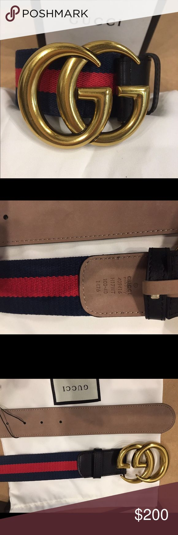 Brand new Gucci belt black green/red/green Brand new Gucci black green/red belt with double gold buckle.                                                     Comes with box,tags and dust bag 😍😍.             ( Unisex ) Gucci Accessories Belts