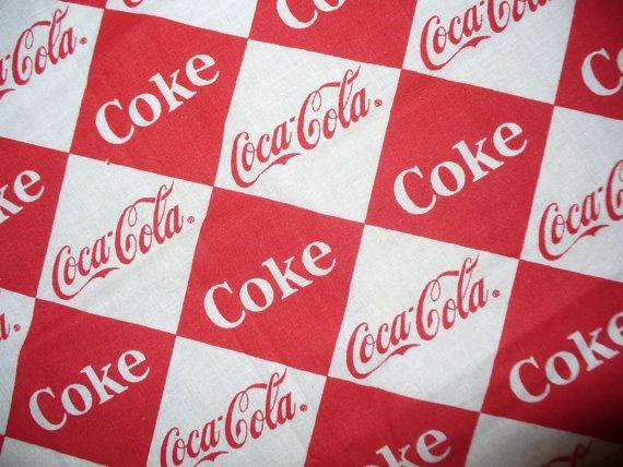 Coca Cola Fabric Remnant Oop Coca Cola Material