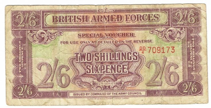 British Armed Forces 2 Shilling 6 Pence 1948