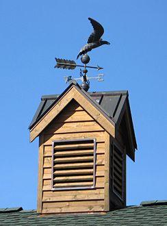 Rustic Cupola with weathervane.