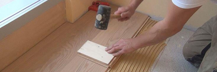Parkett verkleben - Die vollflächige Verklebung - Anleitung & Tipps vom Bodenleger | Holzboden verlegen @ diybook.at