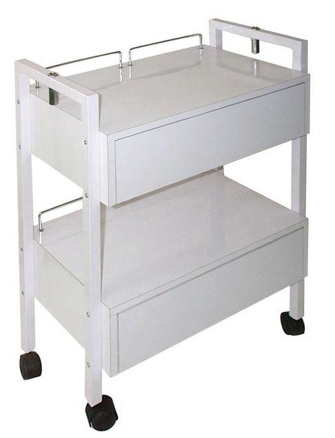 esthetician trolley, esthetician cart, spa cart, spa trolley, trolly Esthetician Trolley with 2 Drawers.  $ 185