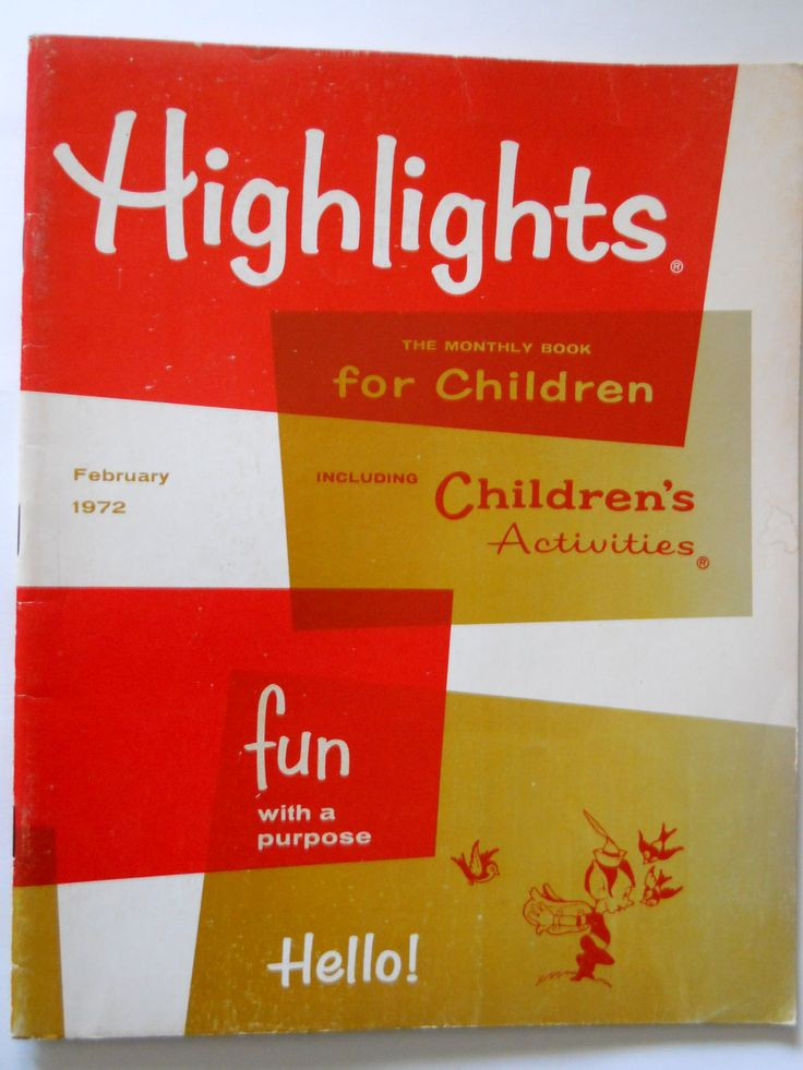 Highlights Magazine 1972 by TheVintagePineapple on Etsy I used to get this :-)