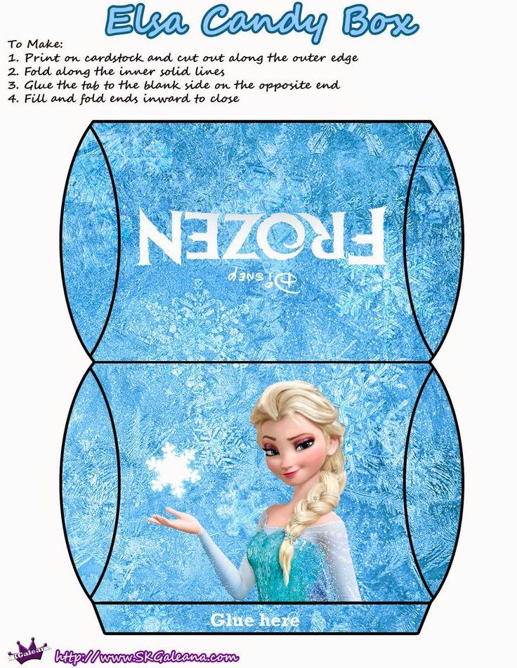 Frozen: Cajas Almohada para Imprimir Gratis.