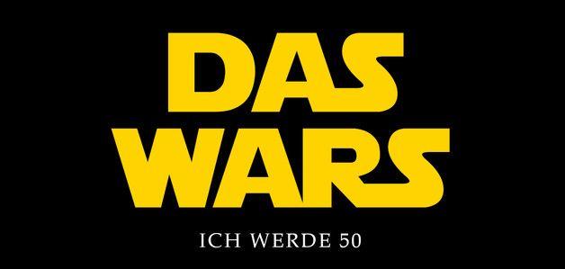 **Einladungskarte zum 50. Geburtstag** STAR WARS - DAS WARS  ............  **Format:** DIN Lang Querformat, 2 Seiten, Vorder- und Rückseite bedruckt 210 x 100...