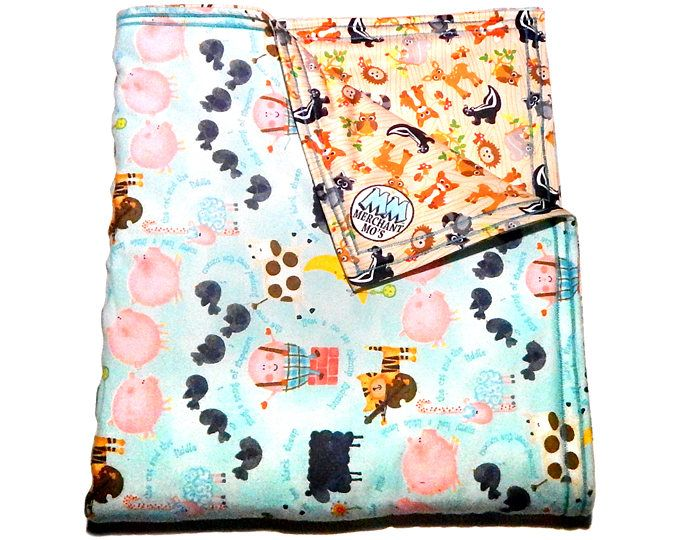 """Soaker Pad - 32""""x30"""" - Farm Animals Fabric - Multipurpose Waterproof Blanket/ Play Mat/ Changing Mat/ Incontinence Pad/ Seat Cover"""