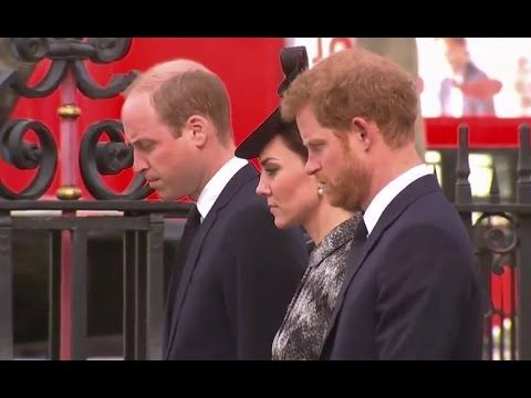 Duke and Duchess of Cambridge and Prince Harry arrive for Westminster me...