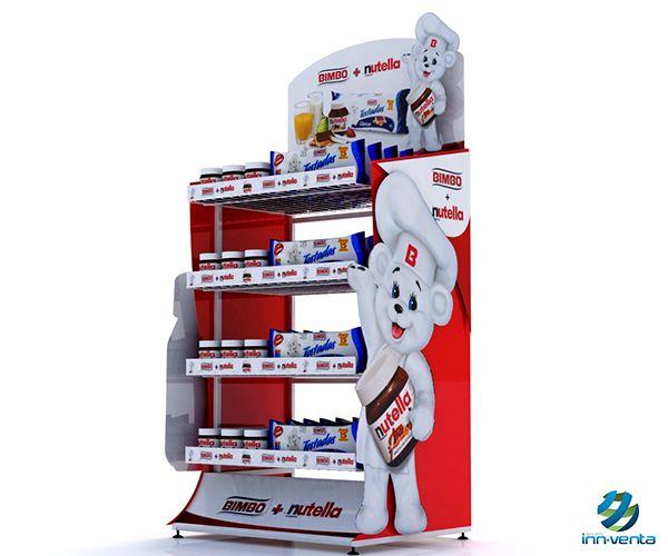 Exhibidor de Piso / Bimbo - Nutella on Behance