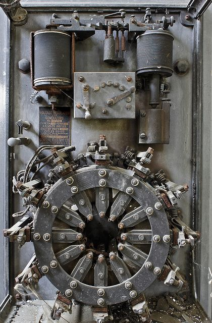 One of the relics left in the control room of the power plant. The tag reads: Voltage Regulator For Generators No. 42970 Type TA125 Form K-12 A.C. Volts 100-125 Exciter Volts 50-125 Cycles 25-125 Patented Dec. 30, 1913 Mar.10, 1914 June 30, 1914 May 2, 1916 General Electric Co. Schenectady, N.Y., U.S.A. GE's Schenectady plant is just a short stretch down the river from here. More images from the old Mohasco carpet complex power plant are here: www.flickr.com/photos/95