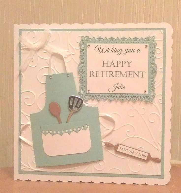 Retirement card for Dawn | Cards handmade, Cards |Handmade Retirement Cards