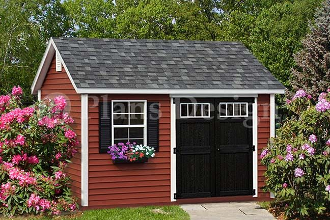Gambrel roof shed plans 12x16 woodworking projects plans for Gable roof barn plans
