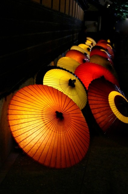 Japanese umbrellas, Wagasa 和傘
