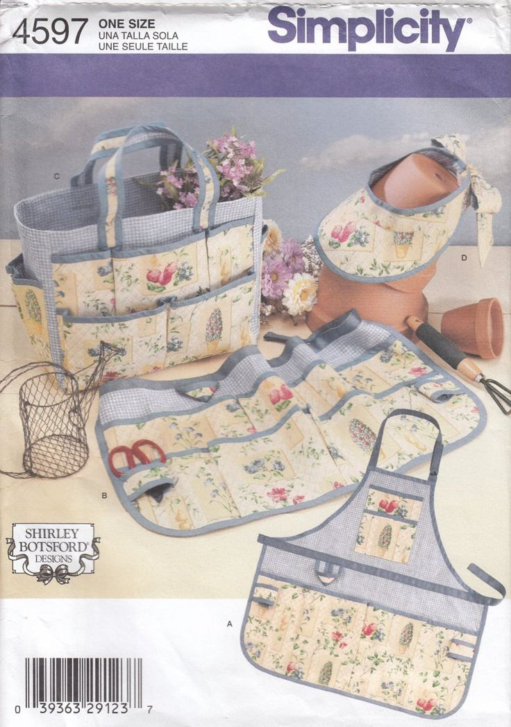 Simplicity 4597 Garden Accessories Sewing Pattern – Home Decor Sewing Pattern – Uncut Sewing Pattern – Crafts Sewing Pattern – Projects to try