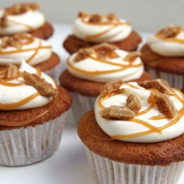Appel stroopwafel cupcakes