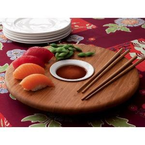 Sushi Serving Board with Chopsticks