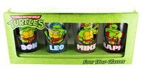 Wish | Teenage Mutant Ninja Turtles Names Pint Glass Set Of 4 (Color: Multicolor)