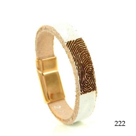 Leren armband met vingerafdruk 0301-222