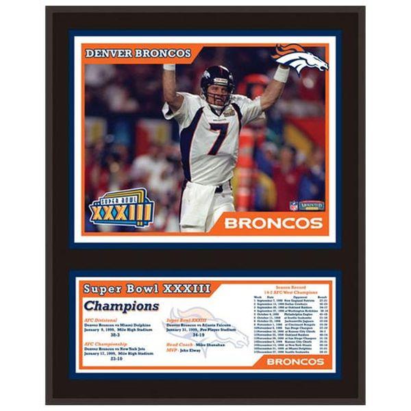 """Denver Broncos Fanatics Authentic 12"""" x 15"""" Super Bowl XXXIII Sublimated Plaque - $39.99"""