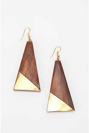 UrbanOutfitters.com > Sunrise Wooden Drop Earring