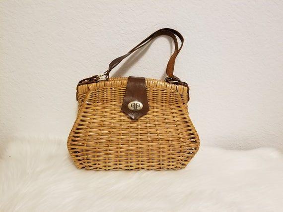 Bamboo Handbag Handmade Handmade Top-Handle Bags for Womens