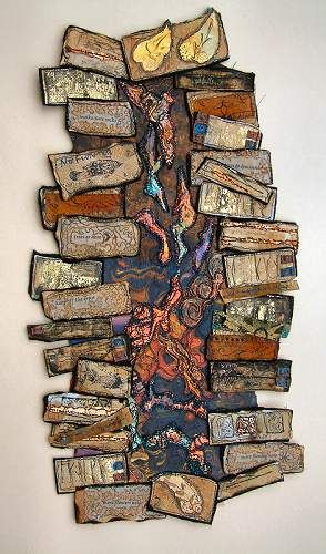 Gallery Mixed Media -- Flat Plan for a Landscape map art quilt by Maggie Grey