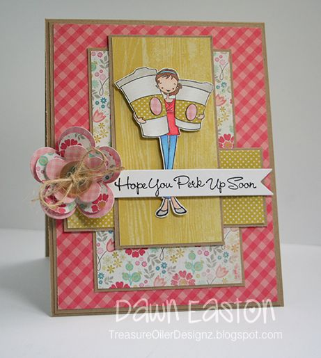 Love everything about this card! Love the paper and flower