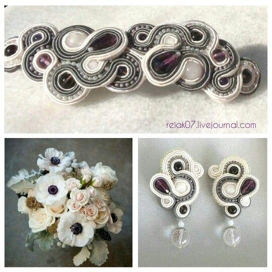 #soutache #earrings #white #yuliaozmen #forhair