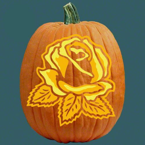 Yellow Rose Special Occasions Pumpkin Carving Patterns