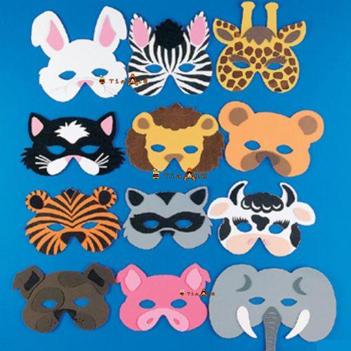 moldes de mascaras de animais 2