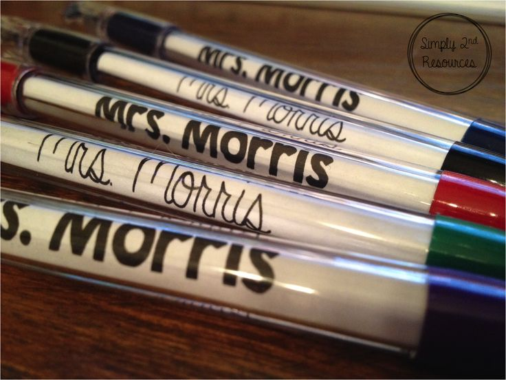 Simply 2nd Resources: Monday Made It - Personalized Pens